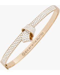Carelle Knot Pavé Diamond Bangle - Metallic