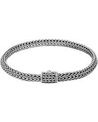 John Hardy Classic Chain Sterling Silver Small Bracelet - Metallic