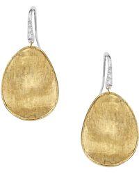 Marco Bicego - Lunaria Diamond Pavé Drop Earrings - Lyst