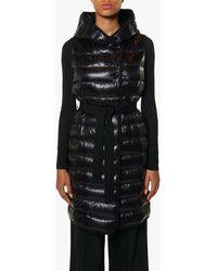 Moncler Women's Cowl Neck Puffer Vest - Black