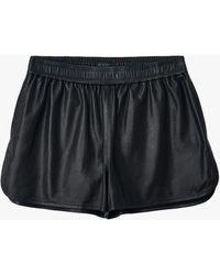 Rag & Bone Brit Leather Short Classic Fit Short - Black