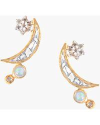 Shana Gulati Kolar Stud Earrings - Metallic
