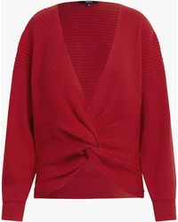 Hudson Jeans Women's Knotted Sweater - Red