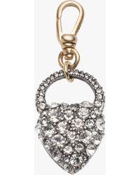 Lulu Frost Crystal Heart Charm - Metallic