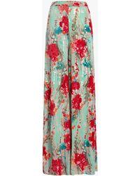 Badgley Mischka Women's Sequin Wide-leg Pants - Multicolor