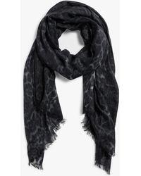 Sofia Cashmere Eyelash Fringed Pure Cashmere Wrap - Black