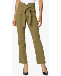 Hudson Jeans Women's Remi High-rise Straight Paperbag Pants - Green