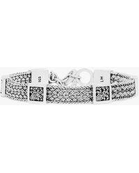 Lois Hill Classic Small Textile Weave Bracelet - Metallic