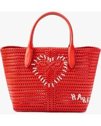 Anya Hindmarch The Neeson Heart Tote - Red