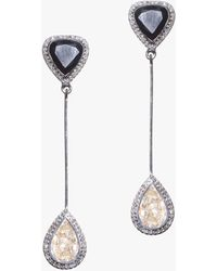 Shana Gulati Harper Drop Earrings - Black