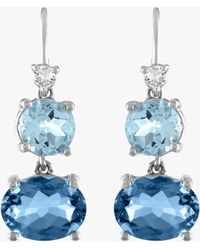 Eden Presley London Blue Topaz Wire Drop Earrings