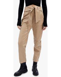 Jonathan Simkhai Women's Tessa Faux Leather Tie-waist Pants - Natural