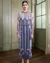 Women Summer Chiffon Kaftan w// Embellished Rhinestone Work V NeckCaftan Dress