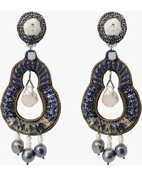 Ranjana Khan Nevara Clip-on Earrings - Black
