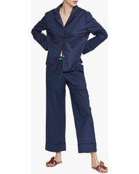 Cynthia Rowley Cotton Pajama Pant - Blue