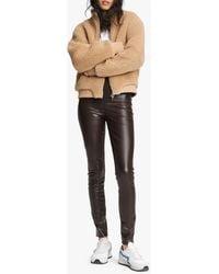 Rag & Bone Jude Sherpa Cropped Jacket Classic Fit Jacket - Natural