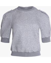 Adam Lippes Women's Luxe Jersey Sweatshirt - Gray