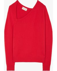 Christopher Kane Women's Open Neck Sweater - Red