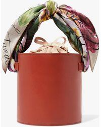 Montunas Isla Leather Bucket Bag - Red