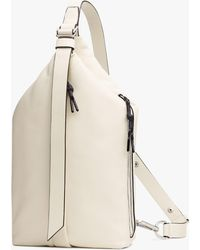 Rag & Bone Hayden Sling - Leather And Recycled Materials Large Crossbody Bag - White