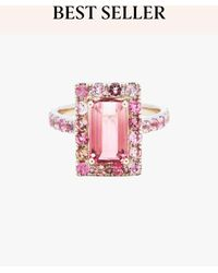 Yi Collection Tourmaline Bubble Gum Deco Ring - Pink