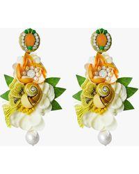 Ranjana Khan Esperenza Clip-on Earrings - Green