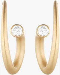 Carelle Whirl Diamond Spiral Earrings - Metallic