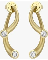 Carelle Whirl Diamond Earrings - Metallic