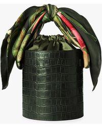 Montunas Isla Leather Bucket Bag - Green