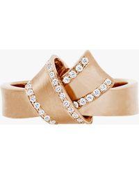 Carelle Knot Diamond Trim Ring - Metallic
