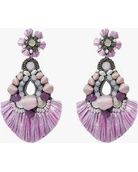 Ranjana Khan Roberta Clip-on Earrings - Purple