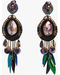 Ranjana Khan Stella Clip-on Earrings - Multicolor