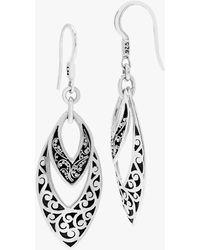Lois Hill Silver Drop Earrings - Metallic