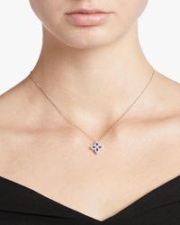 Roberto Coin Sapphire And Diamond Flower Pendant Necklace - Multicolor