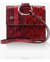Hayward - Split Watersnake Mini Charm Bag - Lyst