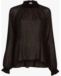 Ronny Kobo Women's Diamond Poly Crinkle - Black