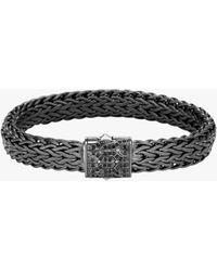John Hardy Men's Classic Chain Black Sapphire Bracelet - Metallic