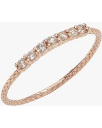 Jacquie Aiche - 7 Diamond Vintage Waif Ring - Lyst