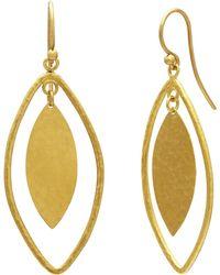 Gurhan - Long Drop Willo Geo Marquise Earrings - Lyst