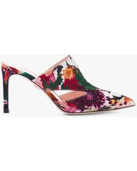 Cushnie et Ochs - Marcel Floral Print Mule With Triangle Cut Outs - Lyst