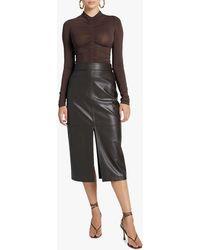 A.L.C. Women's Moss Faux Leather Skirt - Black