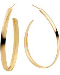 Lana Jewelry - Large Curve Teardrop Hoops - Lyst