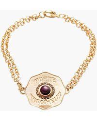 Marlo Laz Porte Bonheur Coin Bracelet - Metallic