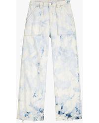 Rag & Bone Skater High Waist Wide Leg Jeans - White
