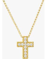 Roberto Coin - Princess-cut Cross Pendant Necklace - Lyst