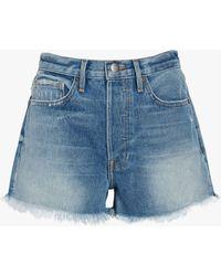 FRAME Women's Rigid Re-release Le Original Shorts - Blue