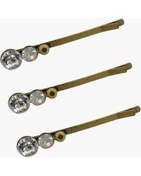 Dauphines of New York Spotlight Stunner Crystal Bobby Pin Set - Metallic