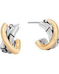 John Hardy - Bamboo J Hoop Earrings - Lyst
