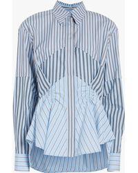 Carven Women's Asymmetric Shirt - Blue