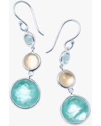 Ippolita Lollipop Lollitini 3-stone Drop Earrings - Blue